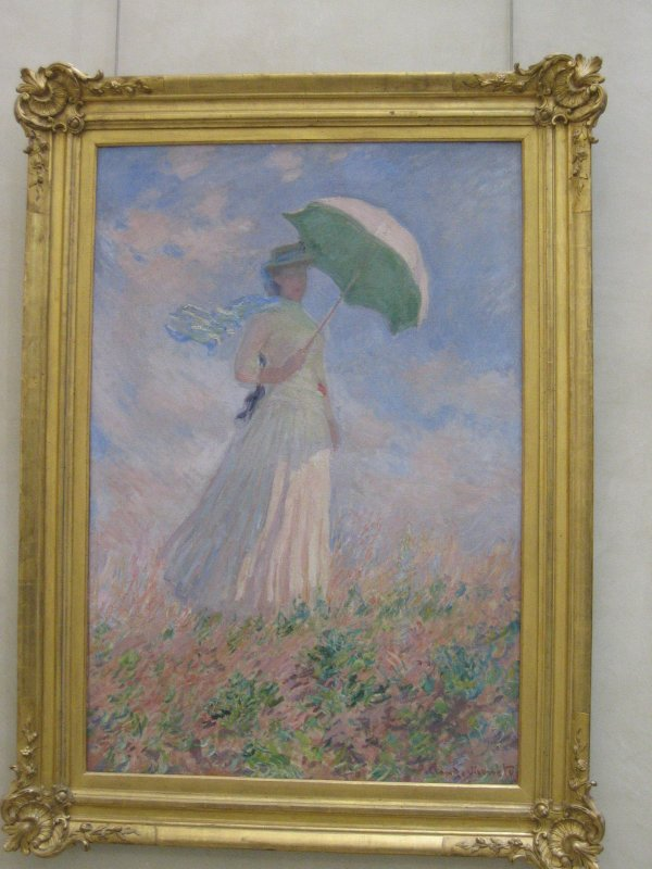 Woman Umbrella Monet Woman With Umbrella From The
